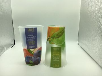 24oz Printed Plastic Cups For Beverage Juice Coffe Shop , Personalized Disposable Cups