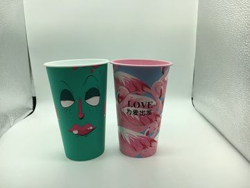 Printed Disposable Plastic Cups Hot Drink UV Printing Customized Logo