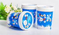 China BPA free  durable Disposable Plastic Food Containers for ice cream company