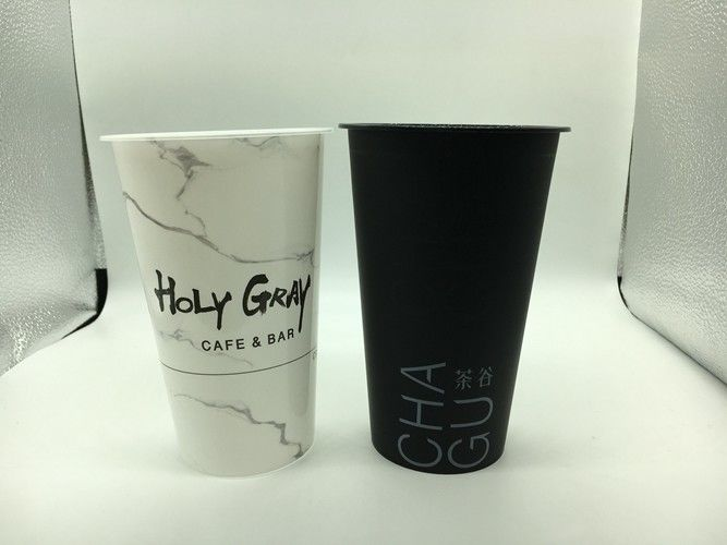 IML In mould labeling 500ml Printed Plastic Cups with cover