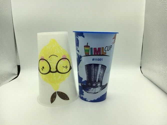 500Ml Disposable Coffee Cups In Mould Label Full Color Printing