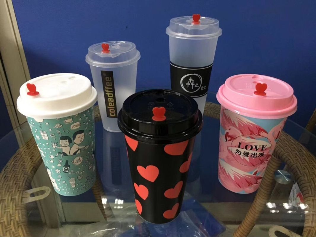 17oz 500ml Custom Printed Disposable Cups Pp Plastic Cup