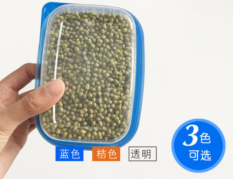 Plastic Dry Food Disposable Plastic Containers , Flip Top Cereal Keeper Container