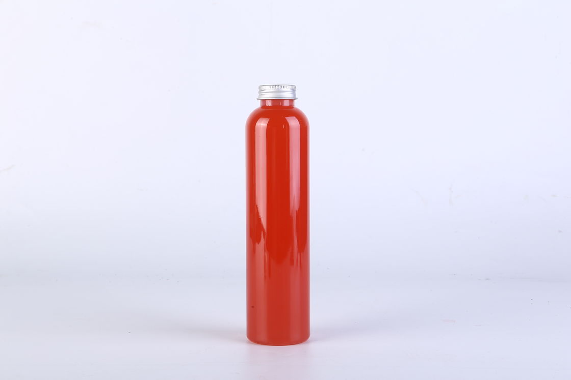 Empty Clear Plastic Bottles , Disposable Clear Pet Plastic Juice Bottle With Screw Cap