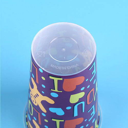 3D Lenticular Plastic Juice Cups Lable In Mould  98* Height 150 mm
