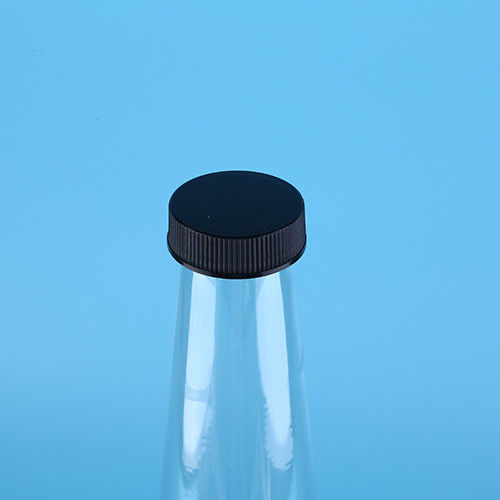 Disposable PET Clear Plastic Drinking Bottles  with Black Screw Cap