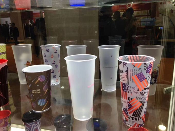 IML printing PP Plastic Cup High And Low Temperature Resistant SGS Certification