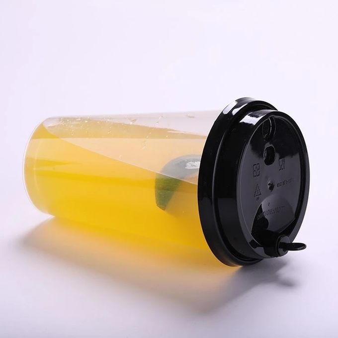 16oz In Mould Labeling Clear Disposable Juice Cups / Pp Plastic Cup