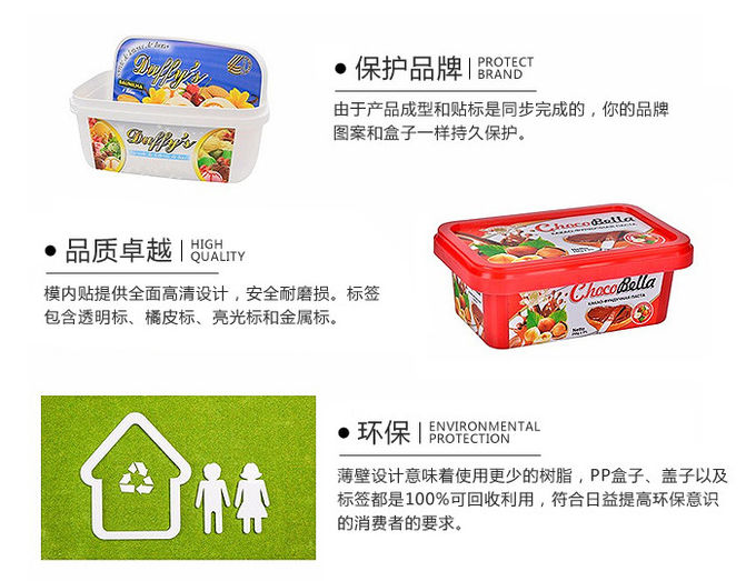 OEM Disposable Plastic Containers L19*W19*H12.5 cm Size 1.2mm Thickness